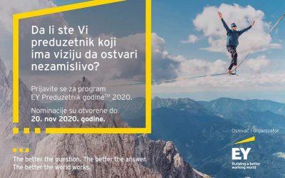 Otvoren deveti konkurs za EY Preduzetnika godine